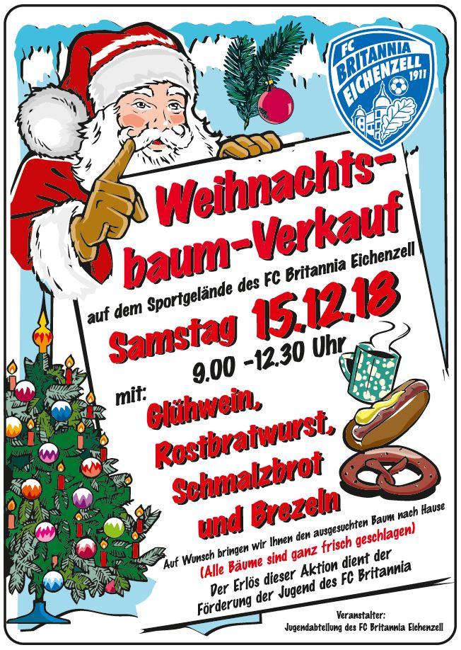 Plakat Weihnachtsbaumverkauf 2018